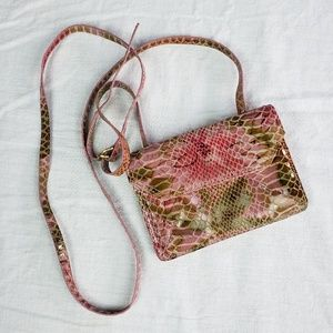 Hobo pink tropical floral mini xbody purse, EUC